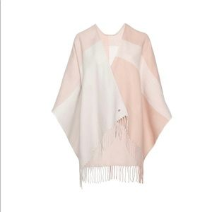 SOIA & KYO Woven Scarf with Fringe Cardigan